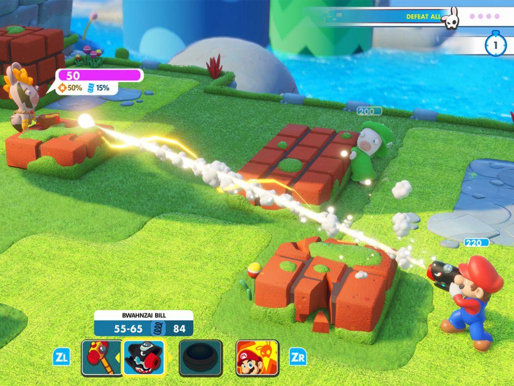 best Nintendo Switch games: mario + rabbids Kingdom battle