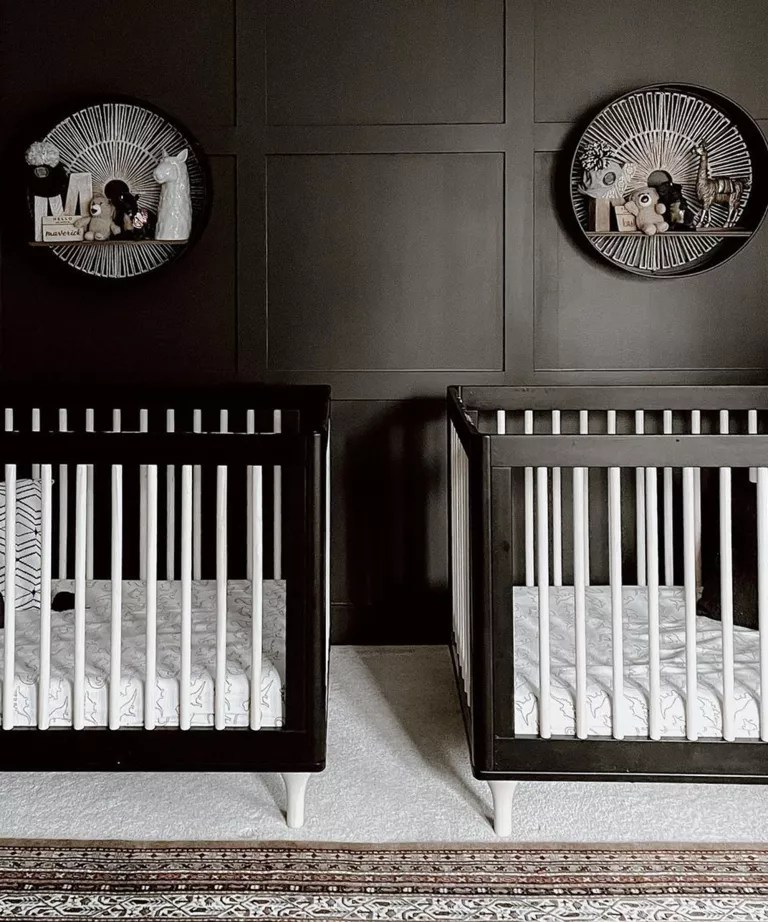 Black twin nursery design idea by Christina Quek-Slippy
