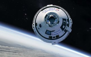 A visualization of Boeing's Starliner spacecraft.