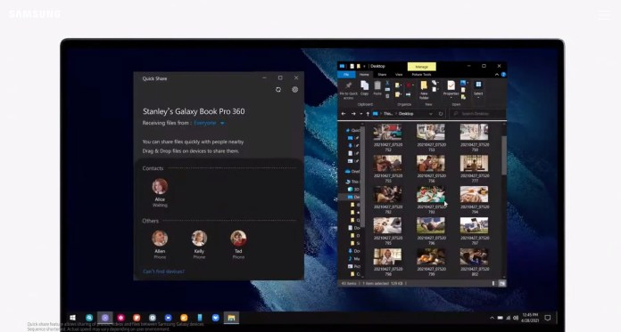 Galaxy Book Pro Quick Share