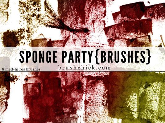 Sponge Photoshop brushes