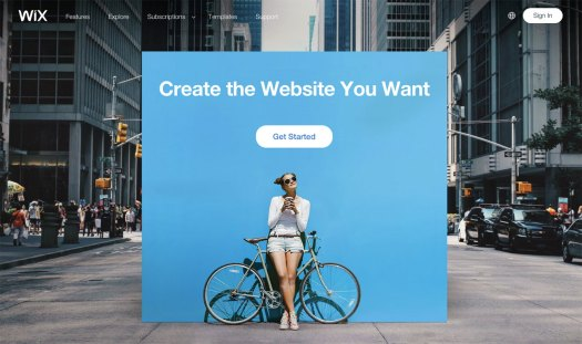 Choose a website builder: Wix