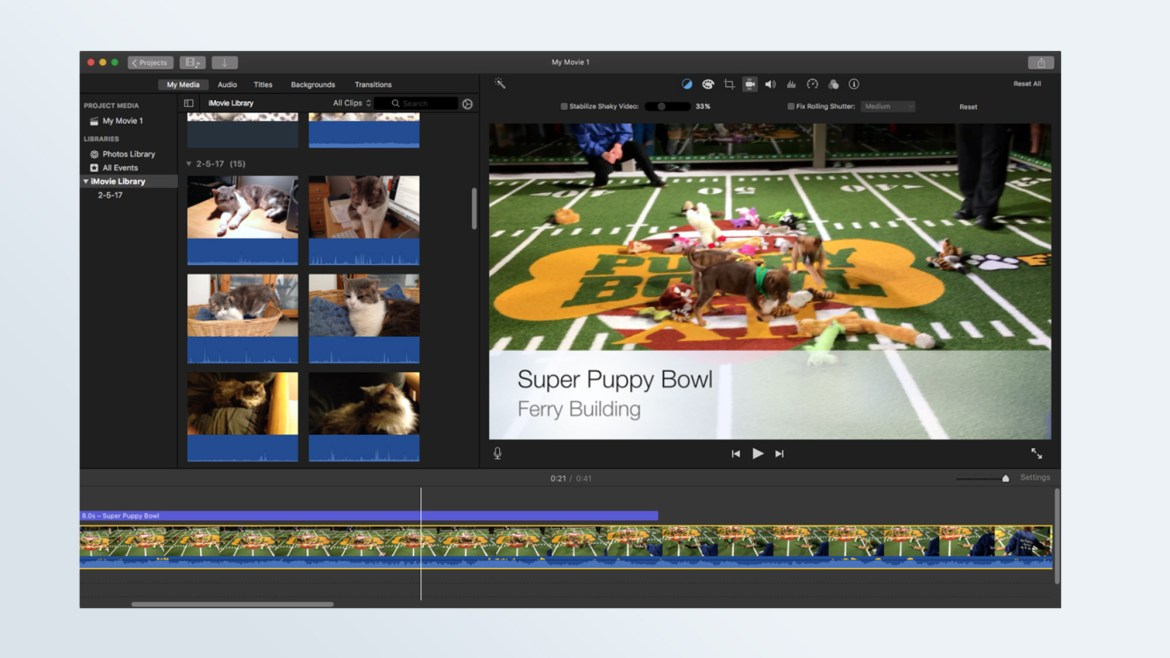 Best free video editing software: Apple iMovie