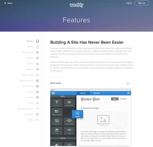 Best blogging platforms: Weebly