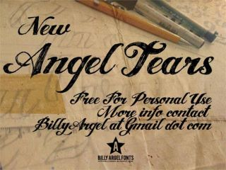 Tattoo fonts: Angel Tears
