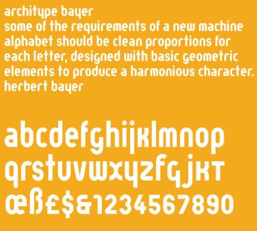 Architype Bayer designed by Herbery Baye