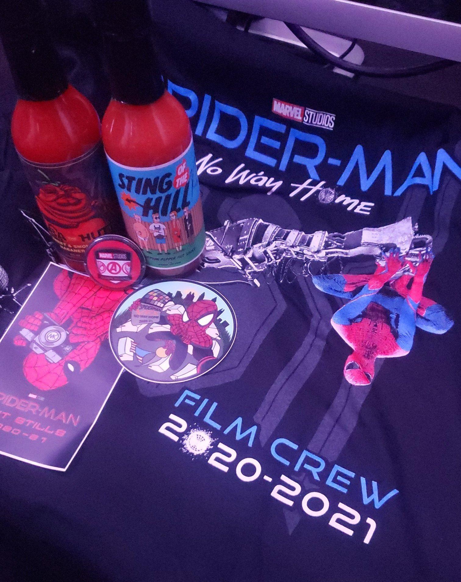 Spider-Man: No Way Home set photos gifts