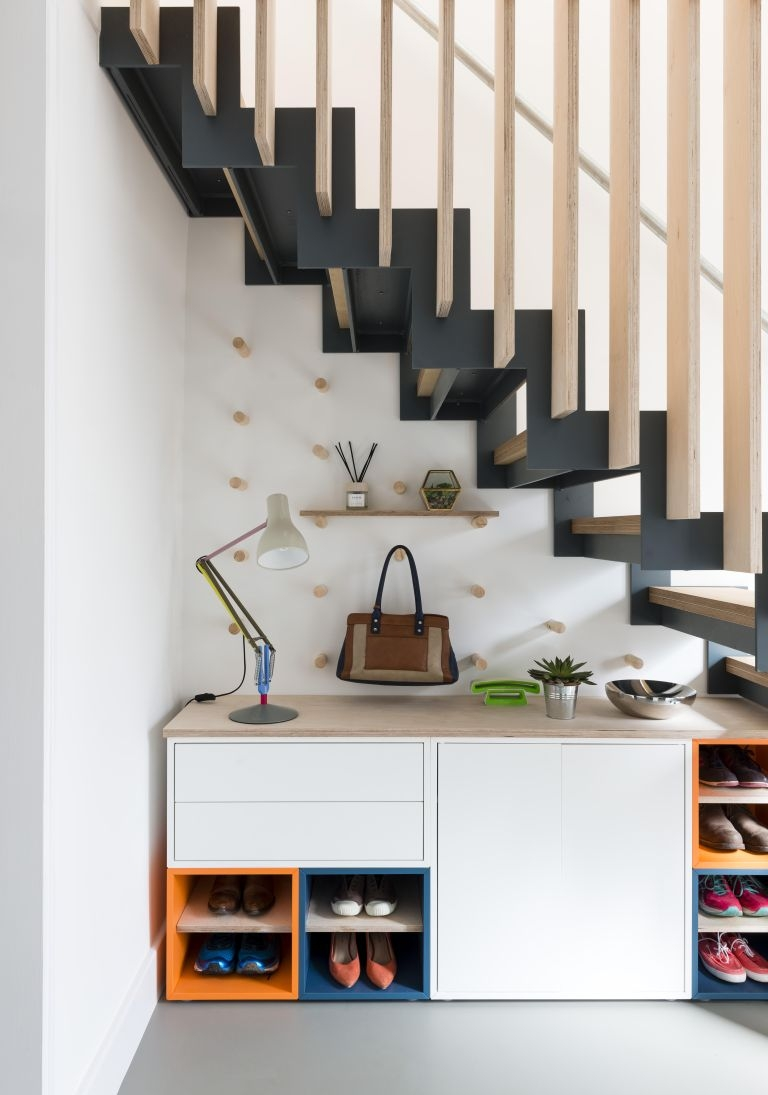 Under Stairs Storage 23 Handy Ways To Make The Most Of Your Space | Wardrobe Design Under Stairs | Hallway Storage | Basement Stairs | Stair Case | Living Room | Shoe
