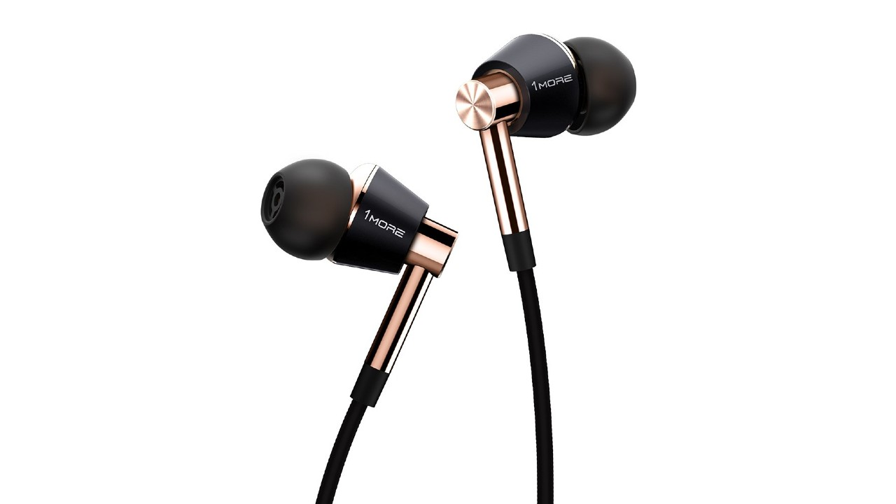 a close up of the best earbuds, the 1More Triple Driver In-Ear Headphone