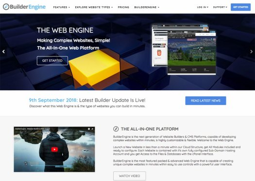 Choose a website builder: BuilderEngine