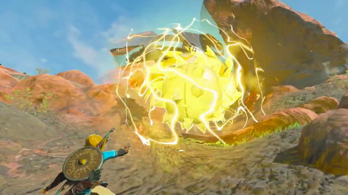 Breath of the Wild 2 trailer screenshot showing Link using his power