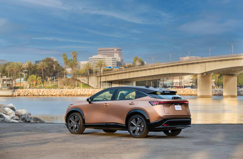 Nissan Ariya 2022 electric SUV — rear