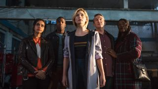 Jodie Whittaker and the cast of Doctor Who.