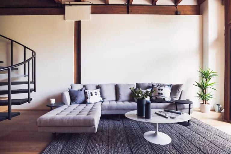 Sofa, decorating with grey