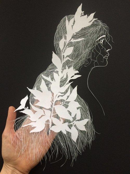 maude white paper art