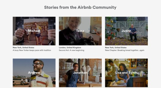 Selection of personal stories from Airbnb hosts