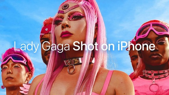 Lady Gaga's vibrant new music video shot exclusively using Apple's ...