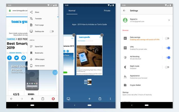 best android browsers: Opera