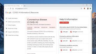 Google coronavirus hub