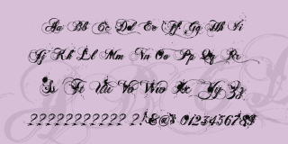 Tattoo fonts: Ginga