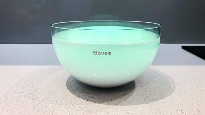 Govee Ambient RGBWW Portable Table Lamp Illuminated in Soft Green