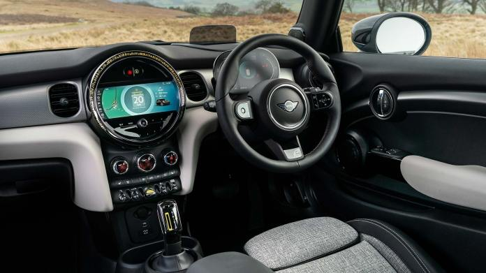 Mini Electric charging — interior