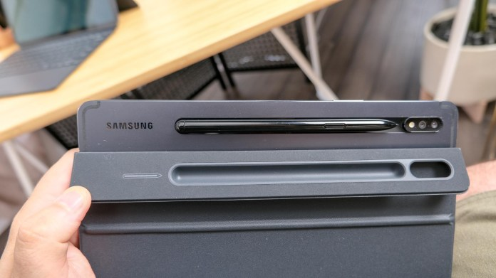 Samsung Galaxy Tab S7 and S7 Plus S Pen slot