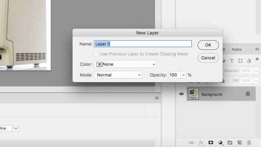 Setting a New Layer in Photoshop