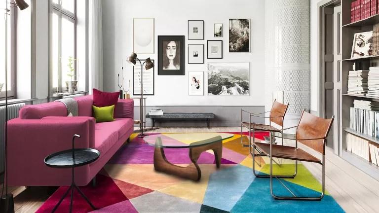 Prism Vibrant rectangle rug, Sonya Winner Rug Studio
