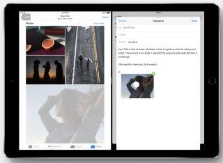 Vous pouvez également faire glisser et déposer des photos et des liens hypertexte sur des applications à écran par tagé