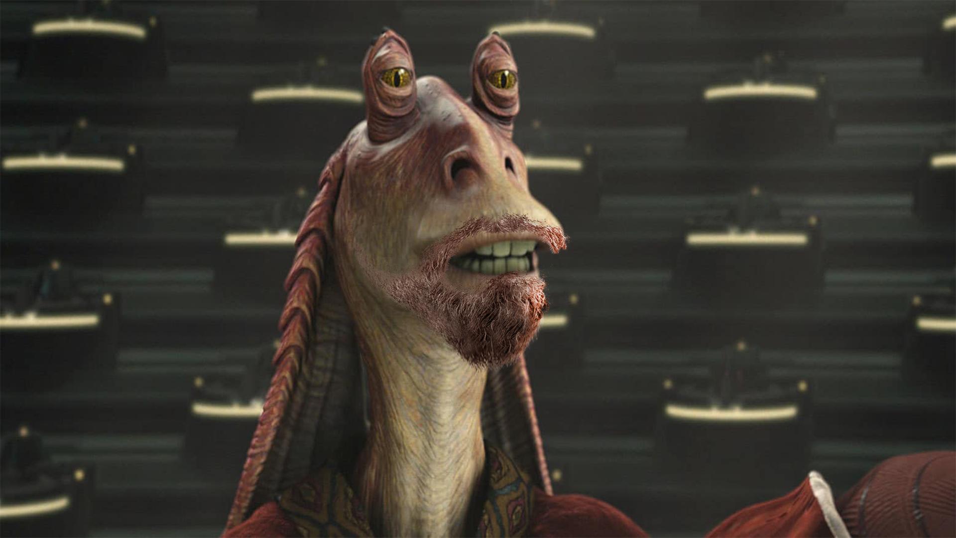 Star Wars Rumour Claims A Bearded Jar Jar Binks Will Appear In The