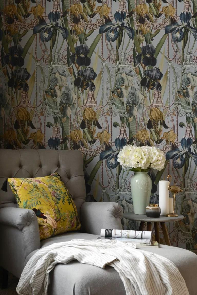 renaissance style floral wallpaper mindthegap