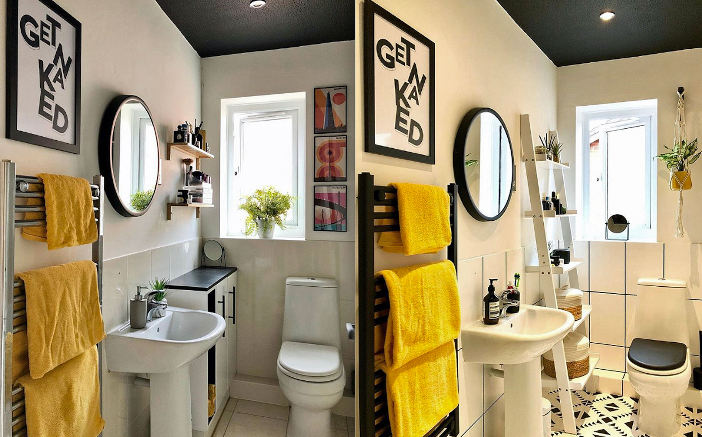 drab to fab with cheap tile paint