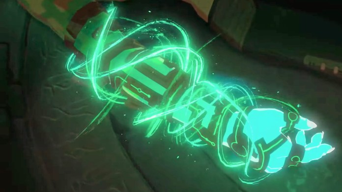 Breath of the Wild 2 trailer screenshot showing a new power glove item