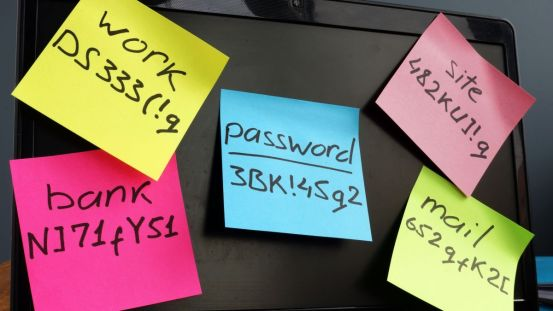 Stop using sticky notes to write down passwords