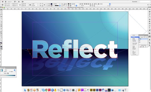 Reflect written in Indesign