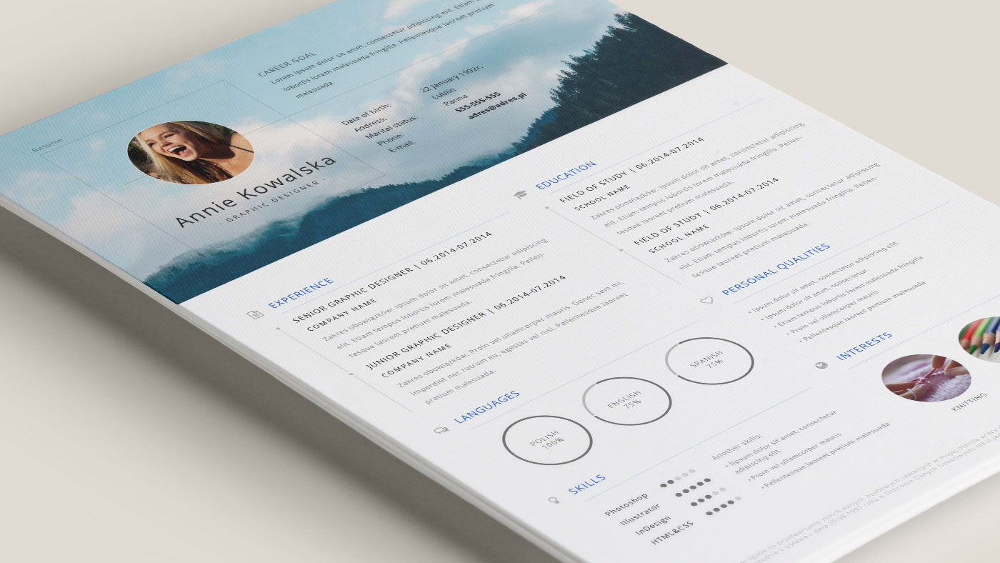 good first impression with this minimalistic free resume template