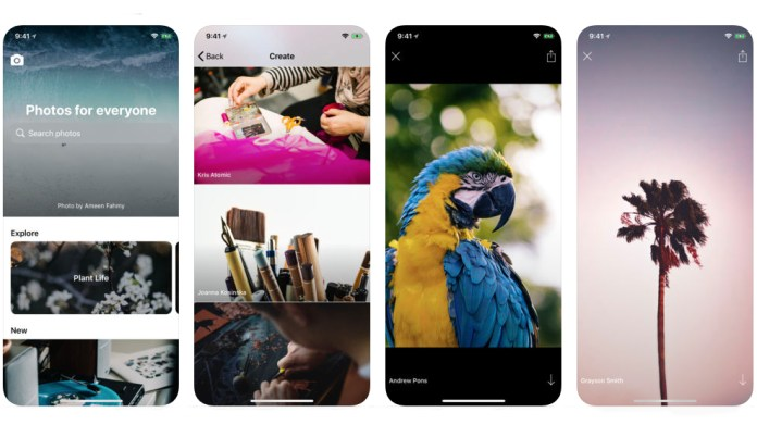 Image result for Unsplash, tech's favorite stock image site, now has an iOS app