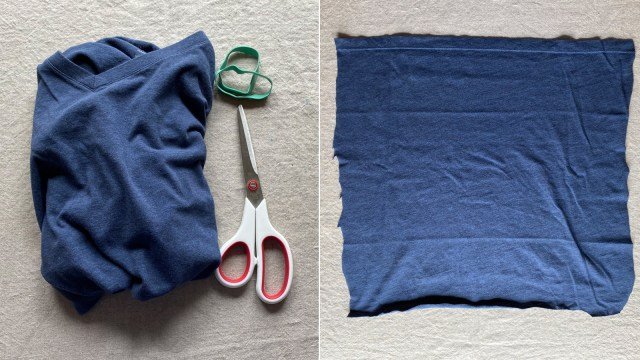 How to make a no-sew face mask with a T-shirt