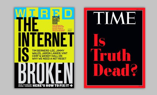 magazine cover: Wired and Time