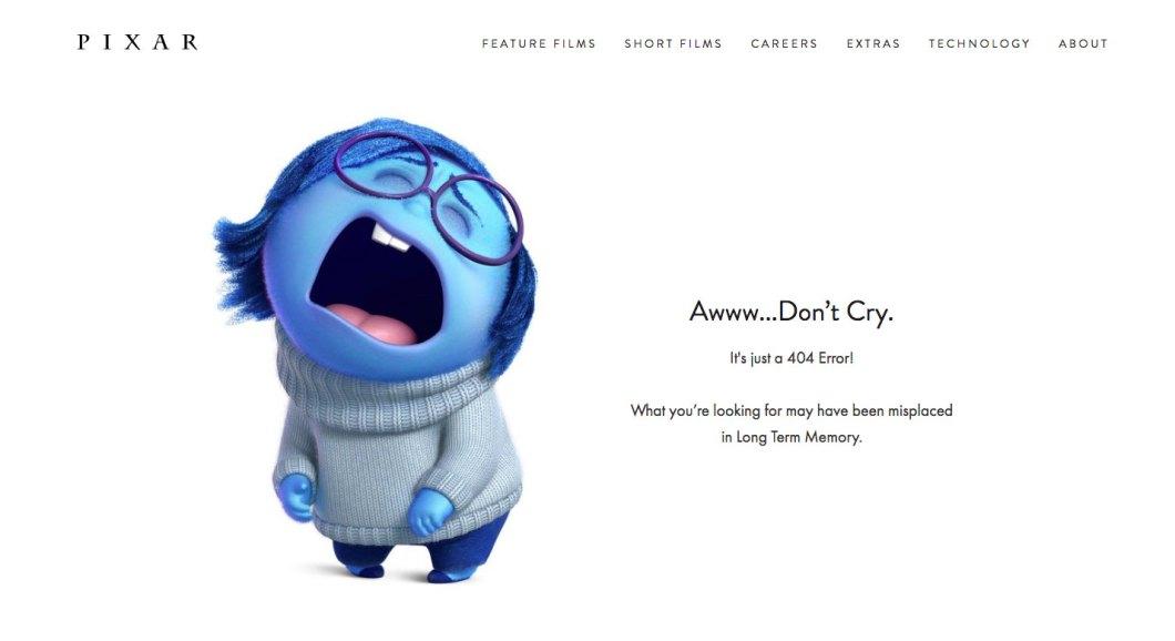 pixar 404 page