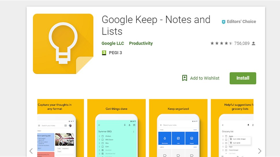 Google Keep - A comprehensive offering for note-taking