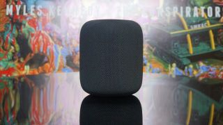 A photo of the Apple HomePod