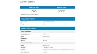 Xiaomi Cereus on Geekbench