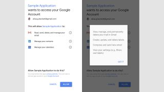 The opt-in notification users receive. Source: Google