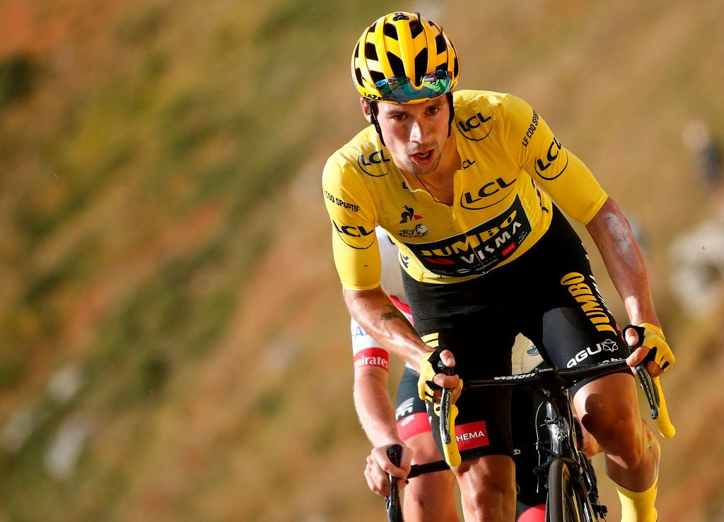 primoz roglic makes biggest move yet towards winning tour de france cyclingnews