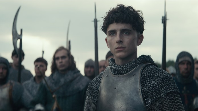 Timothée Chalamet in The King, one of the best Netflix war movies