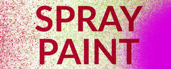 Spray paint brush