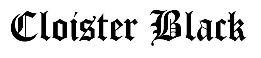 Old English fonts: Cloister Black