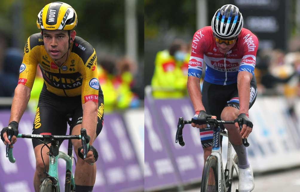 rivalry ruins gent wevelgem for van aert and van der poel cyclingnews